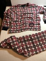 Vintage Esleep Jammies Flannel Pajamas Womens Large-stitched little scottie dogs