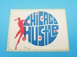 CHICAGO HUSTLE WBL WOMEN's BASKETBALL  STICKER DECAL - 1978 - VINTAGE ORIGINAL