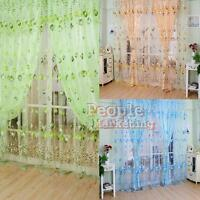 Drape Panel Sheer Scarf Valances Window Floral Tulle Voile Door Window Curtain