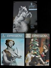 Bundle of 3 full colour 2013 LLADRO Expressions Guild Members Magazines