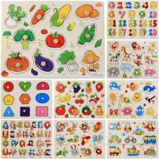 Kids Wooden Puzzle Baby Toddler Jigsaw Tetris Montessori Educational Board Games