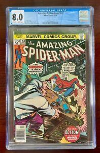AMAZING SPIDER-MAN #163 CGC 8.0 VF (1976) 🔑 KINGPIN APPEARANCE