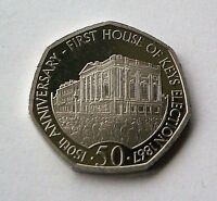"NEW 2017 ""HOUSE OF KEYS"" ISLE OF MAN 50p COIN - IN HAND - *FREE P&P* - IoM MANX"