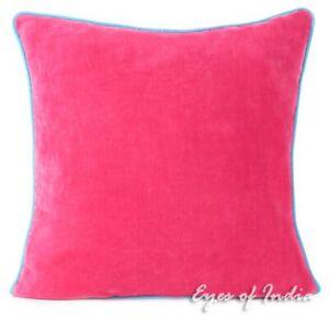 "16"" Velvet Throw Sofa Cushion Couch Pillow Throw Cover Case Boho Bohemian Indian"