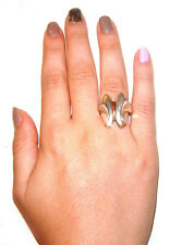 Unique Butterfly Ring Size 8 Taxco Mexico .980 Sterling Silver with
