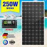 250W 12V Solar Panel Kit Mono Fixed Camping Caravan Boat Power Battery Charging