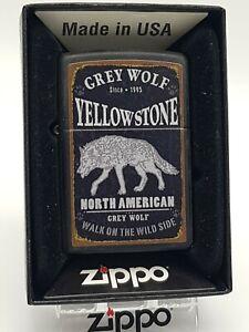 Original Zippo - Grey Wolf Yellowstone  60003858 - 2018 -  Neu