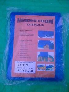 Tarpaulin polytarp 5.4M x 7.2M 18'x24' waterproof sheet cover 100 grams/ sq M