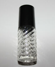 Brand New 1/6 Oz Clear Swirl Glass Essential Oil Roll On Empty Bottle