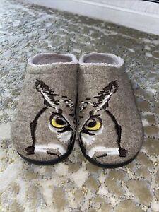 LL Bean Daybreak Scuffs 305194 Slippers Women's Size 11 Owl Eyes
