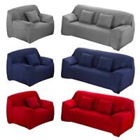 1/2/3/4 Sofa Covers Couch Slipcover Stretch Elastic Fabric Settee Protector Soft