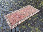 %100 wool Turkish handmade rug, Vintage rug, Hallway rug | 2,0 x 4,2 ft