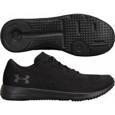 Men's Under Armour UA Rapid Black Knit Trainers Lightweight Shoes UK 7 - 12
