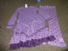 NAARTJIE KIDS M 5 YRS PURPLE BUTTERFLY POKA DOT DRESS PANT SET