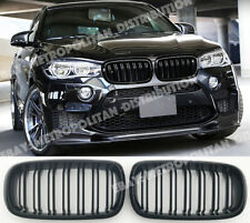 BMW X5/X6,F15/F16,2014-18,double/dual slat/bar X5M/X6M look grille,Gloss Black