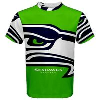 New Seattle Seahawks Eye Sublimation Men's Sport Mesh Tee T-Shirt Size XS-5XL