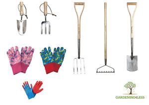 Kids Children Gardening Garden Tools Spade Fork Trowel Dinosaur Dino Gloves