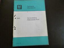 Original Service Anleitung PE 72