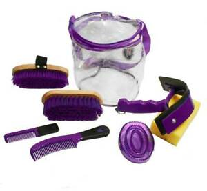 Derby Originals Deluxe 8 Item Horse or Pet Grooming Kit - Closeout - Purple