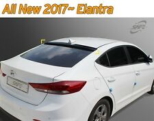 Black Rear Smoked Roof Spoiler Visor Vent K-984 for Hyundai Elantra 2017 ~ 2018