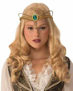 Goldene Mittelalter Fantasy Krone Metall Kostüm Königin GOT Tiara Kostümzubehör
