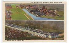 Ford Motor Car Co River Rouge Lincoln Motors Detroit Michigan postcard