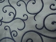 "Handmade Decorative Accent Throw Pillow COVER metallic silver, blue 18""x 18"""