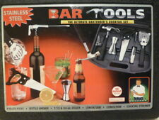 Barware 10 Piece Cocktail Tool Box Set by Structure Bar Bartender Tools New