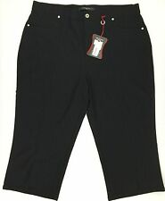 Simon Chang size 18 Black Capri Pants Light Weight Stretch New With Tag