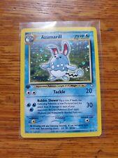 Pokemon - 1st ed Azumarill - 2/111 - Neo Genesis -  Rare Holo - GREAT Condition
