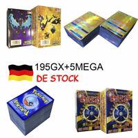 200 Stück Pokemon GX Karte Alle MEGA Holo Flash Art Trading Cards Xmas Gift DE