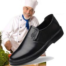 Men's Chef Shoes Leather Flats Kitchen Non-slip Oil-resistant Waterproof Work Ne