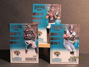 2016 Playoff Contenders Jacksonville Jaguars Team Set 3 Bortles Yeldon Robinson