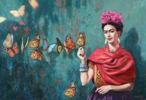 Frida Kahlo Poster Print a (CHOOSE SIZE - A5/A4/A3/A2/A1) Frame Option