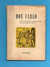 (AM) LIBRETTO OPERA-DON CARLO-VERDI-EDIZIONE RICORDI 1968