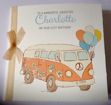 Personalised Camper Van Birthday Card Mum Sister Daughter 18th 21st 30th 40th