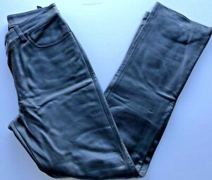 Womens Pants GAP size 4 black Soft Leather NEW (ra69)