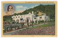 041620 VINTAGE LINEN MOVIE STAR HOME POSTCARD DOROTHY LAMOUR BEVERLY HILLS CA