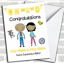 Asian Mum To Be Congratulations Expecting A Baby Pregnancy Customised Card