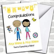 MAMMA asiatiche per essere Congratulazioni aspettando un bambino gravidanza carta personalizzati