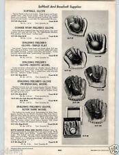1955 PAPER AD Spalding Baseball Glove Alvin Al Dark Phil Ruzzuto Johnny Mize