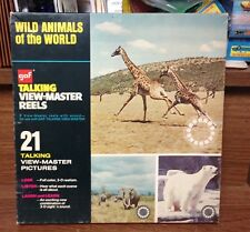 "Vintage Talking View-Master ""Wild Animals Of The World"" Set AVB616 By GAF"
