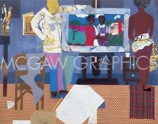 Profile/Part II The Thirties Artist with Painting and Model Romare Bearden 8x10