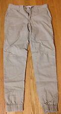 Elwood Tan Beige Jogger Pants Size 28 Selvedge Raw Denim APC Nudie Jeans