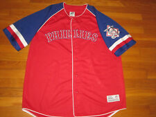 DYNASTY PHILADELPHIA PHILLIES RED/BLUE BUTTON-FRONT BASEBALL JERSEY MENS XL EXC.