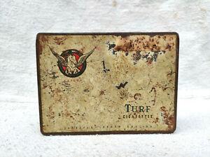 1920s Vintage Rare Carreras London Turf 50 Cigarette Advertising Tin Box England
