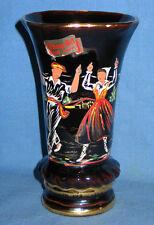 "Emaux d'Art Fait Main France Signed Art Enameled Pottery Vase 7 1/4"""