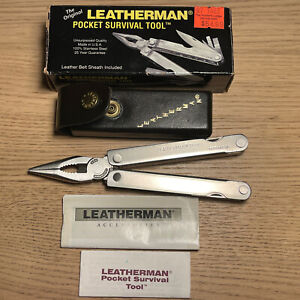 Leatherman PST W/ Leather Case Multi-tool Retired 0697 New
