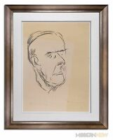 Marino MARINI Lithograph SIGNED Ltd EDITION - Thomas MANN +Custom FRAMING 20x24