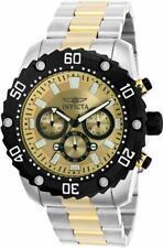 Invicta Pro Diver 22519 Men's Round Analog Chronograph Gold Tone Gunmetal Watch